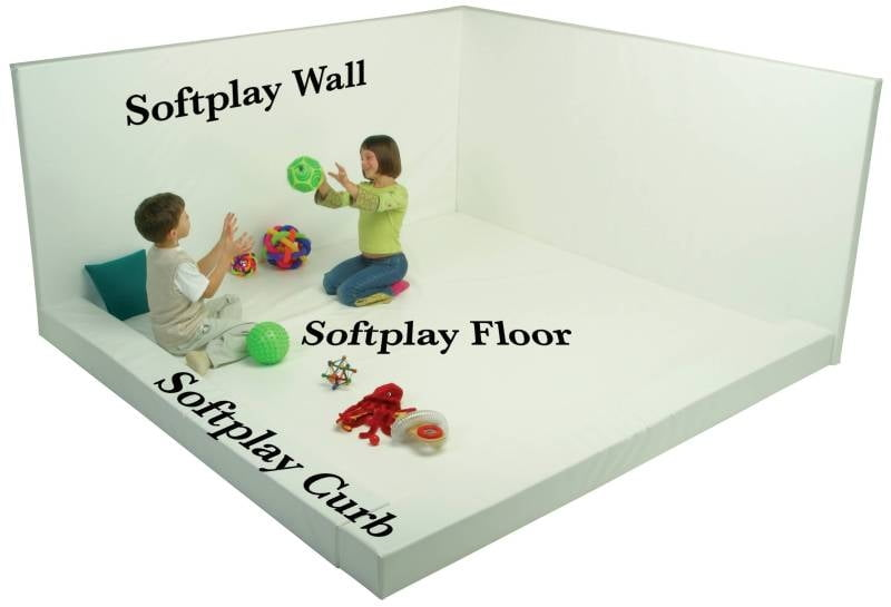 "Softplay Floor (48"" x 48"" x 4"", White Buildable Whiteroom)"