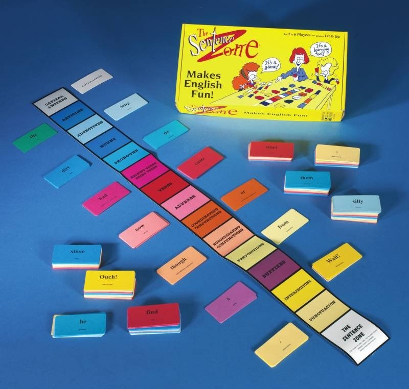 Learning The Sentence Zone Card Game