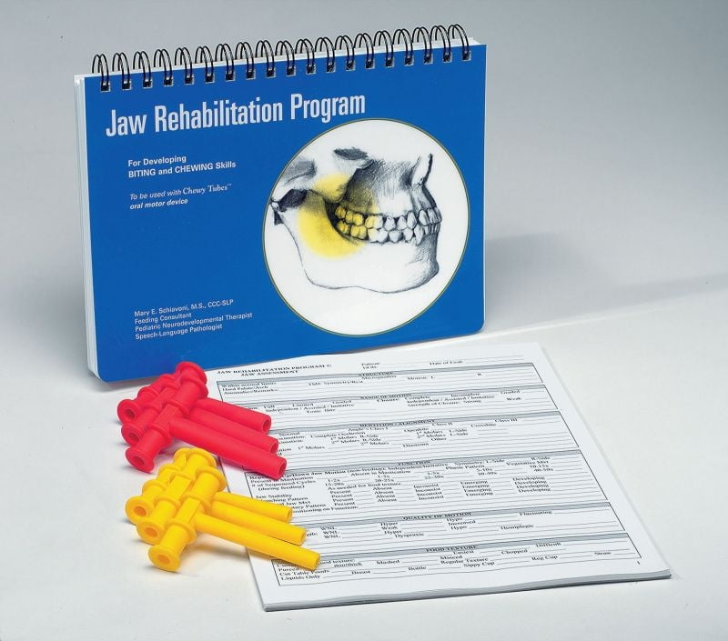 Jaw Rehabilitation Program Kit (6 Chewy Tubes & 25 Assessment Forms)
