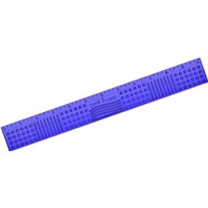 Desk Buddy Multi-Textured Tactile Chewable Ruler, Assorted Colors