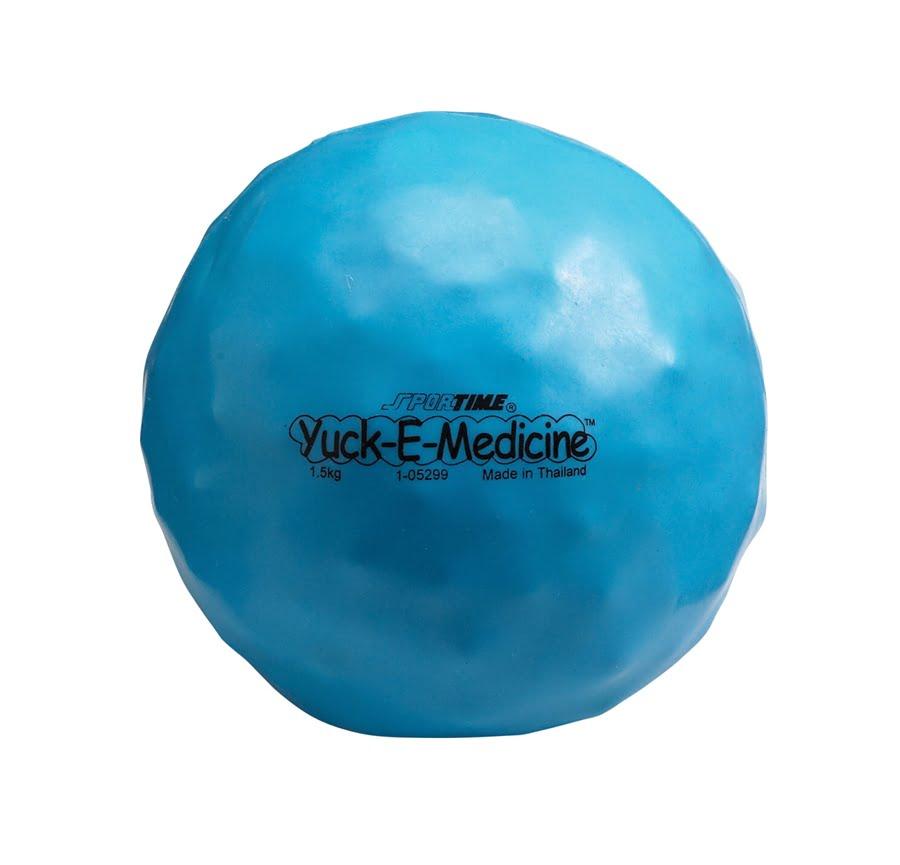 3.3 lb, 6-1/2 in Yuck-E-Medicine Ball, Blue