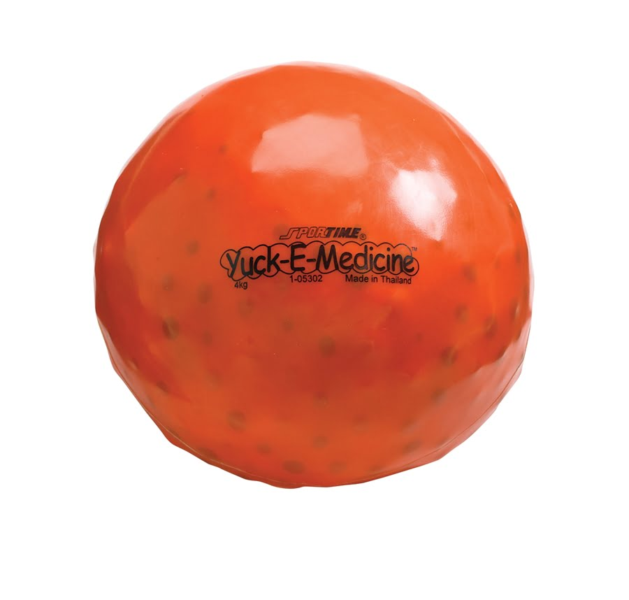 8.8 lb, 8-1/2 in Yuck-E-Medicine Ball, Orange