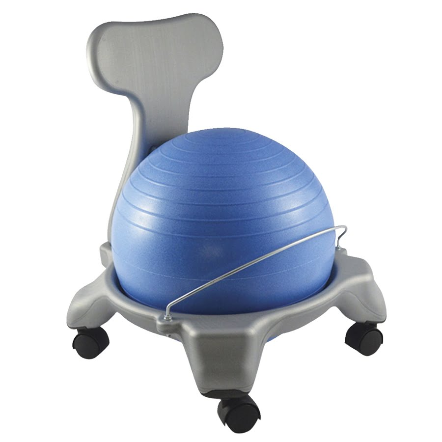 Ball Chair with Back, Plastic, Child Size, 15 Inch Ball