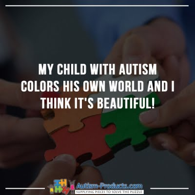 My Child With Autism Colors His Own World
