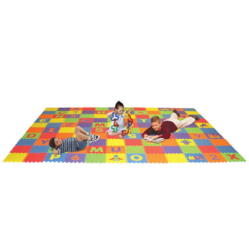 Edushape Letters Numbers And Puzzles Play Mat Set
