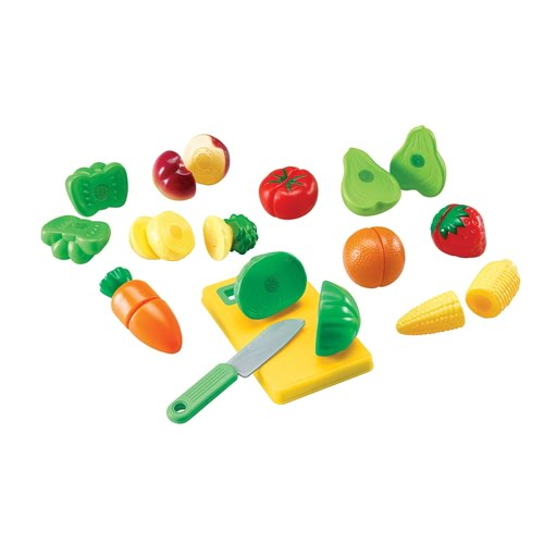 Learning Resources Pretend & Play Sliceable Fruits & Veggies Play Set