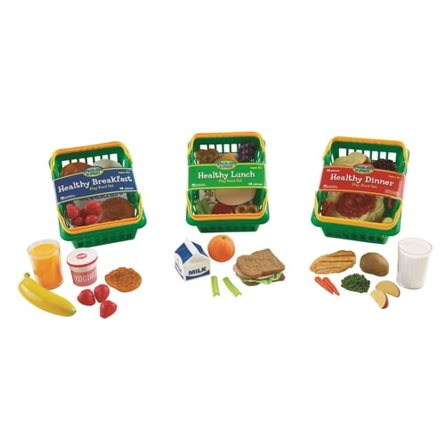 Learning Resources Pretend and Play Healthy Foods Play Set, 52 Pieces