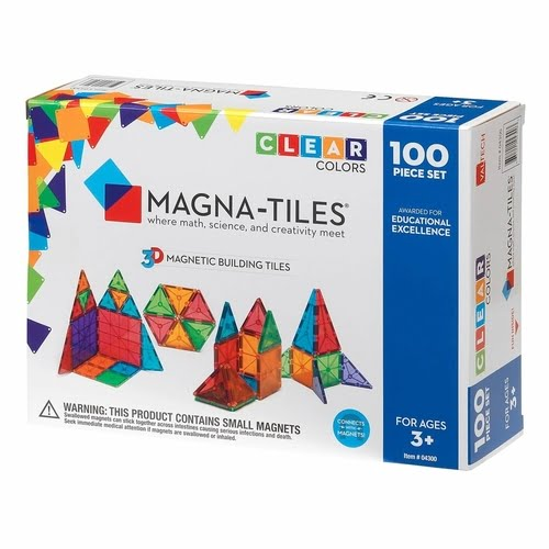 Magna-Tiles Clear Colors 100-Piece Set Box