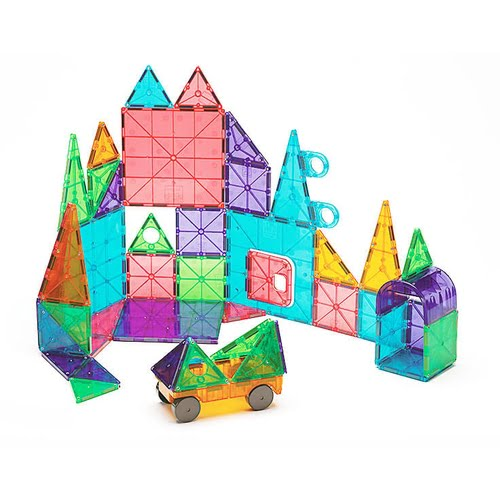 Magna-Tiles Clear Colors 48-Piece Deluxe Set
