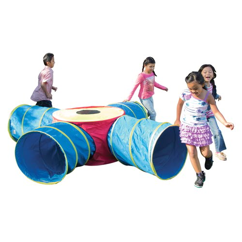 Pacific Play Tents Institutional Tunnels of Fun Junction Tunnel Set