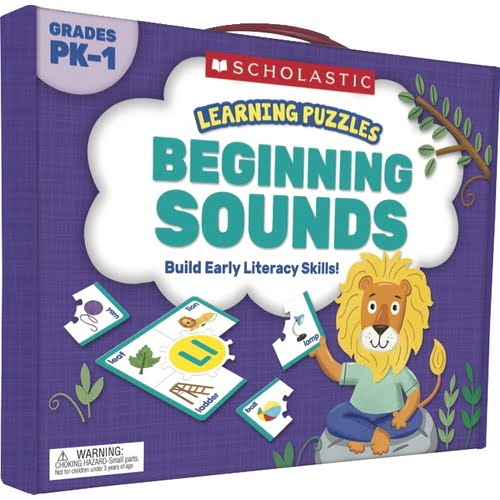 Scholastic Beginning Sounds Hands-On Learning Puzzle Set