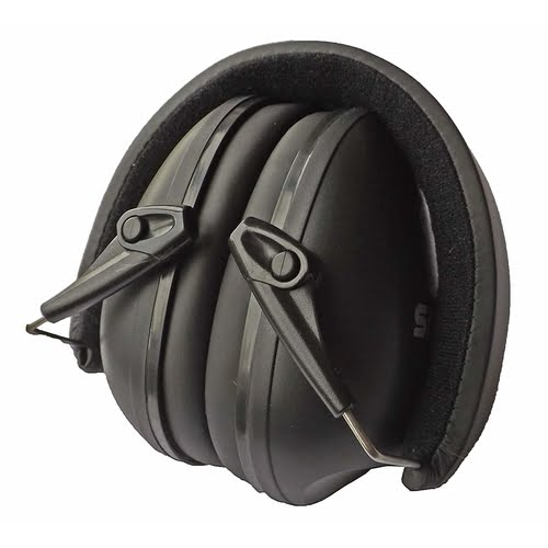 Snug Earmuffs Hearing Protectors Black Folded