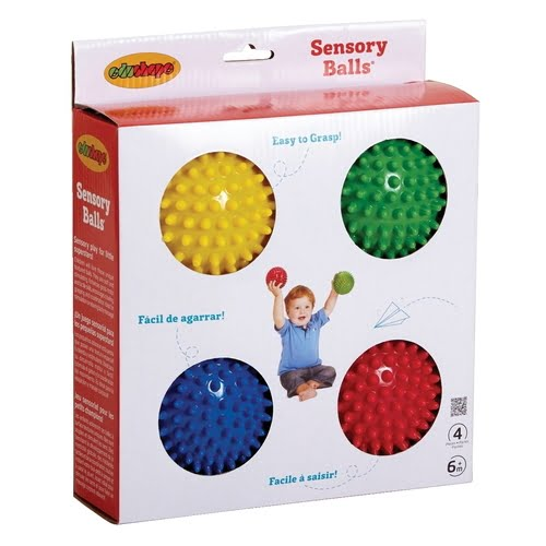 Textured Sensory Ball Set, Assorted Colors, 4 in