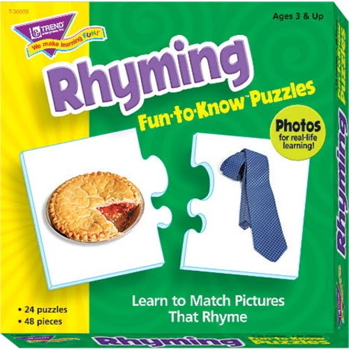 Trend Enterprises Rhyming Puzzle Set